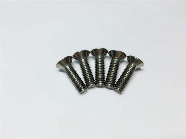 M3, M6 titaniozko torlojua buru laukiaren socket burua cap titanioi brida torlojuak bizkarrezurreko kirurgiarako