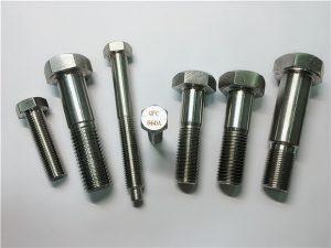 No.25-Incoloy a286 hexazko torlojuak 1.4980 a286 finkagarriak gh2132 altzairu herdoilgaitzezko hardware makina torlojuak