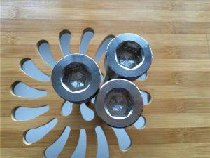 ASEM kalitate handiko entxupera titanio gr2 torlojua / torlojua / azkoina / garbigailua /