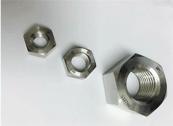 duplex 2205 / f55 / 1.4501 / s32760 altzairu herdoilgaitzezko finkagailu hexazalezko intxaur astuna m20